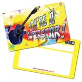 You're a Superstar Guitar Plastic CertifiCARDS (10 Cards - 86mm x 54mm)