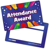 Attendance Award CertifiCARDS (10 Wallet Sized Cards)