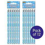 Snowflake Pencils pack of 12