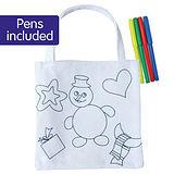 Snowman Colour your own Christmas Bag