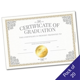 Certificate of Graduation for Leavers (A5 x 20)