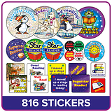 Reading Reward Stickers Value Pack (816 Stickers)