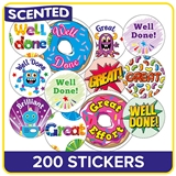 SCENTED Stickers Value Pack (200 Stickers)