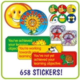 Value Pack of 658 Mixed Stickers