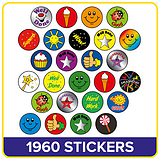 Diddi Dot Merit Stickers (10mm)  x 1960 in a Value Pack