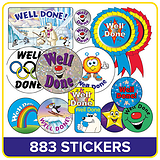 Stickers Value Pack - Well Done (883 Stickers)