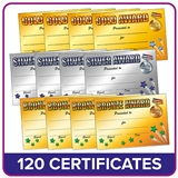 Value Pack Gold, Silver and Bronze A5 Certificates x 120 (40 of each design)