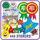 Stickers Value Pack (443 Stickers)