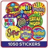 Bright Reward Stickers UNSCENTED Value Pack (1035 Sticker - 32mm)