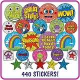 Holographic and Metallic Stickers Value Pack (480 Stickers)