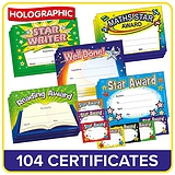 Holographic Certificates Value Pack (100 Mixed Certificates - A5)