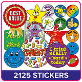Mini Stickers Value Pack (2125 Stickers)