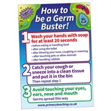 How To Be a Germ Buster Poster (A3)