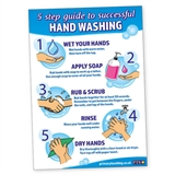 5 Step Guide to Successful Hand Washing Poster (A3)