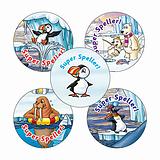 'Super Speller' Stickers - Polar (30 Stickers - 25mm)