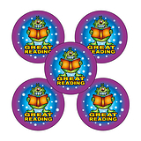 Great Reading Monster Stickers (30 Stickers - 25mm)