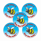'I've Been a Busy Bee Today' Stickers (30 Stickers - 25mm)