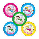 Fairy Stickers (30 Stickers - 25mm)