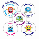 Growth Mindset Stickers (25mm, Multicoloured x 30)