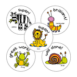 Animal Praise Stickers (25mm x 30)