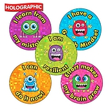 Holographic Growth Mindset Stickers (30 Stickers - 25mm)