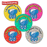 Holographic I Bumped My Head Stickers (30 Stickers - 25mm)