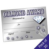 'Diamond Award' Certificates (20 Certificates - A5)