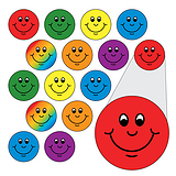 Mini Smile Stickers -  Diddi Dots Mix Colour (10mm) x 196