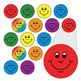 196 x Diddi Dot Smiles 10mm Stickers