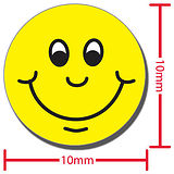 Smiley Stickers - Yellow (196 Stickers - 10ml)