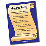 Supersize Plastic Golden Rules Poster (A1 sized)