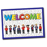 Welcome Plastic Poster (A1 Sized)