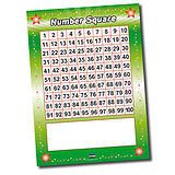A1 Write & Wipe Number Square Poster FREE PEN