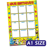 Our Birthdays Poster - Write & Wipe (A1)