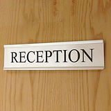 Customised Door Sign - Silver (200mm x 50mm)