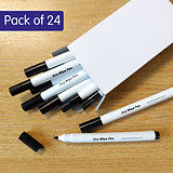 Pack of 24 Black Fine Dry Wipe Pens