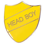 Head Boy Enamel Badge - Yellow (30mm x 26mm)