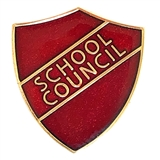 School Council Enamel Badge - Red