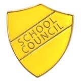 School Council Enamel Badge - Yellow