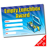 Empty Lunchbox Award Certificates (20 Certificates - A5)