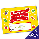 'Healthy Eater Lunchtime Award' Certificates (20 Certificates - A5)