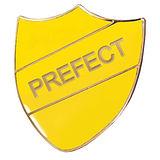 Prefect Enamel Badge - Yellow (30mm x 26mm)