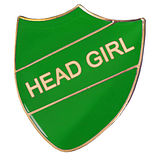 Head Girl Enamel Badge Green