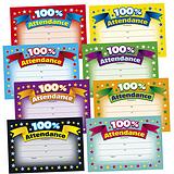 100% Attendance Megamix Certificates (48 Certificates - A5) Brainwaves