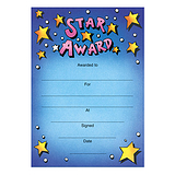 Star Award Certificates - Blue (20 Certificates - A5) Brainwaves