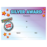 Silver Award Certificates - Purple (20 Certificates - A5) Brainwaves