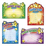Super Star Award Certificates - Cut-Out Design (20 Certificates - A5) Brainwaves