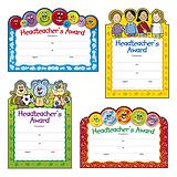 Headteacher's Award Certificates - Cut-Out Design (20 Certificates - A5) Brainwaves