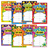 Star of the Week Megamix Portrait Certificates (48 Certificates - A5) Brainwaves