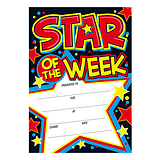 Star of the Week Certificates (20 Certificates - A5) Brainwaves
